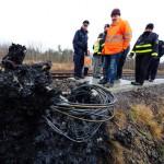 Brandanschlag im Vorfeld der Legida-Demo am 30. Januar: Auf der Bahnstrecke Leipzig-Grimma in Naunhof wurde ein Steuerungskasten anzündet und damit komplett zerstört.