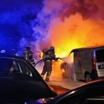 Autos von Sodexo und WISAG brennen aus