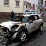 Bundeswehrauto angezündet
