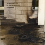 Brandanschlag auf Senatsverwaltung für Stadtentwicklung