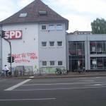 Farbe gegen SPD-Zentrale