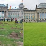 Gräber auf Reichstagswiese ausgehoben