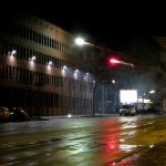 Feuerwerk gegen Polizeiwache