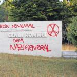 Nazidenkmal besprüht