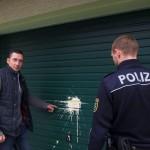 """Farbe gegen Haus vom """"Wir sind Deutschland""""-Anmelder"""