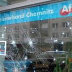 Zweimal Steine gegen AfD-Büro, einmal Farbe