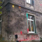 Farbe gegen Burschenhaus