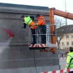 Farbe gegen Denkmal