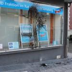 Farbbeutel gegen AfD-Büro