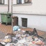 Mülltonne vor DPolG-Geschäftsstelle abgefackelt