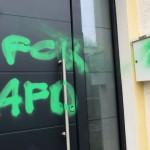 Farbe gegen Haus von Arno Enners (AfD)