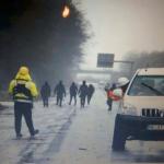 Sicherheitsdienst verjagt, RWE-Fahrzeug abgefackelt