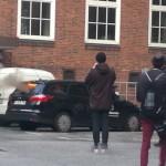 Bei Demonstration Bundeswehrauto abgefackelt