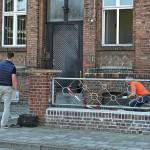 Feuer an Polizeiwache entzündet