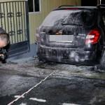 Auto von Lars Franke (ProChemnitz) abgefackelt