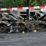 Autos der Deutschen Bahn abgefackelt