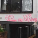 Farbe gegen Wohnhaus von AfD-Politiker