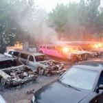 Luxuswagen verbrennen bei Autoverleih