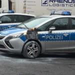 Brandanschlag auf Polizeiauto