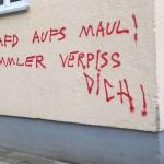 Sprühereien an AfD-Privatadressen