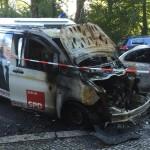 SPD-Wahlkampfbus abgefackelt
