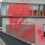 Paint attack on the House of German Industry