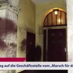 "Farbe gegen Büro des ""Bundesverband Lebensrecht"""