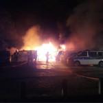 Brandanschlag auf 7 Autos der Bundespolizei und 11 der Deutschen Bahn