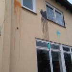 Farbe gegen Haus von Nicole Jordan (AfD)