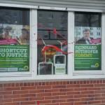 Farbe gegen Grünen-Büros