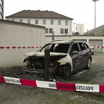 Bundeswehr (Armed Forces) vehicle torched