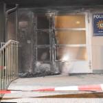 Brandanschlag auf Polizeiwache