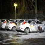 Sechs Securitas-Autos abgefackelt