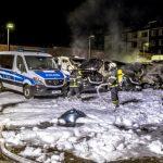 Brandanschlag auf Polizeifuhrpark