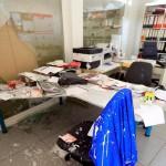 Steine und Farbe gegen AfD-Funktionäre, SPD und Ausländerzentralregister