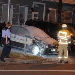 Auto von Sicherheitsdienst angezündet