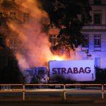 STRABAG-Lkw abgefackelt
