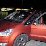 Farbe gegen Haus von Frank Hansen (AfD), Auto demoliert