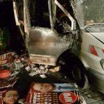 NPD-Wahlkampfauto abgefackelt