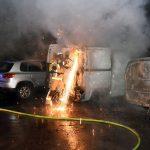 Amazon Liefer-Transporter angegriffen