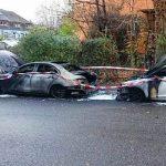 Mercedes abgebrannt