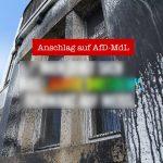 Farbe gegen Haus von Karin Wilke (AfD)