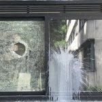 Farbe und Steine gegen CDU-Kreiszentrale
