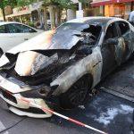 Luxus-Auto abgefackelt