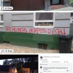 Farbe und Steine gegen AfD-Wahlkampf
