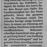 Auto von Wilhelm von Gottberg (AfD) angezündet