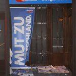 Fenster bei AfD-Büro eingeworfen