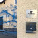 Farbe gegen Büro von Jens Maier (AfD)
