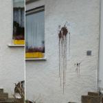 Farbbeutel gegen Haus von Karl Hermann Bolldorf (AfD)