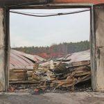 Hähnchenmaststall niedergebrannt